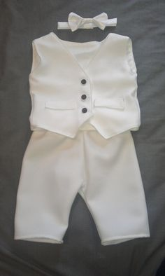 Baby Boy Baptism Outfit Boy Christening Outfit by kickandgiggle
