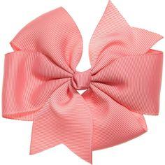 Bowtique London Pink Grosgrain Flower Bow Hair Clip (10cm) at Childrensalon.com