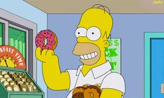 Trending GIF homer simpson the simpsons donut doughnut Homer Simpson Donuts, Homer Donuts, Bart Simpson, Dunkin Donuts, Donut Gif, Doughnut, Simpsons Simpsons, Tom Y Jerry, Desenhos Cartoon Network