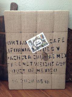 coffee sack board sweet
