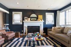 Robert's Supremely Cool Craftsman - colors, rug, mantle, windows