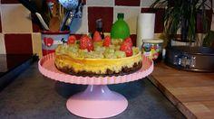 Cheesecake rhubarbe fraises