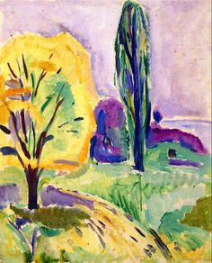 Yellow and Green Tree Edvard Munch - 1913-1916