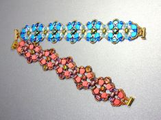 Check out our wibeduo beads selection for the very best in unique or custom, handmade pieces from our beads shops. O Beads, Crystal Beads, Seed Beads, Unique Bracelets, Beaded Bracelets, Bead Jewellery, Jewelry, Bead Shop, Beading Tutorials