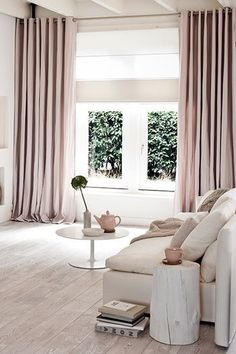 pink-modern-curtains-for-living-elegant interior - Wohnideen - Zimmer Design Curtains Living, Modern Curtains, Bedroom Curtains With Blinds, Luxury Curtains, Apartment Curtains, Window Curtains, Double Curtains, Nursery Curtains, Hanging Curtains