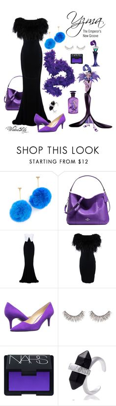 """Yzma ""Disney Villains"""" by le-piano-argent ❤ liked on Polyvore featuring Tuleste, Coach, STELLA McCARTNEY, Giambattista Valli, Disney, Nine West, MAKE UP FOR EVER and NARS Cosmetics"