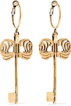 Alexander McQueen | Gold-tone earrings | NET-A-PORTER.COM