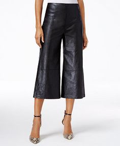 GUESS Denise High-Rise Faux-Leather Culottes - Rock & Roll Sweetheart - Macy's