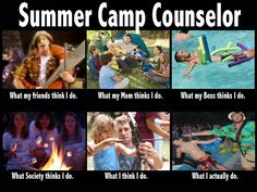 Camp Counsellor - What People Think/What I actually do meme