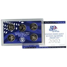2002-S State Quarters 5-Coin Proof Set Set