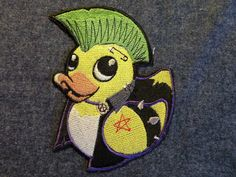 Punky Duckie Iron on Patch by GerriTullis on Etsy, $15.00
