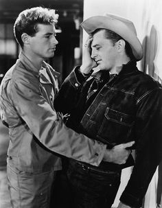 "Guy Madison consoles Robert Mitchum in ""Till The End of Time"" (Edward Dmytryk, 1946)"