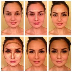 I did the Kim Kardashian highlighting and contouring makeup ...