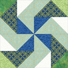 Peacock Paradise pinwheel quilt block CANADIAN SOURCE. Lots of cute precuts with pricing per block!