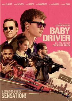 Baby driver / Tristar Pictures and MRC present ; a Working Title/Big Talk Pictures production ; a film by Edgar Wright ; produced by Nira Park, Tim Bevan, Eric Fellner ; written and directed by Edgar Wright. Baby Driver Full Movie, Baby Driver Poster, Baby Movie, Kevin Spacey, Movies To Watch, Good Movies, Bon Film, Face The Music, Film Streaming Vf
