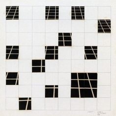 Mel Bochner Dispersed Perspective (One Point), 1967Photo collage and graphite on board