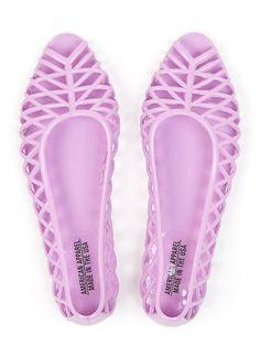 Flat Lattice Jelly Sandal via American Apparel