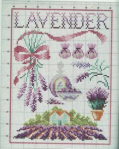 Gallery.ru / Фото #4 - 15 - mikolamazur lavender lavande cross stitch point de croix