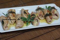 """INVOLTINI DI MAIALE RIPIENI Gli """"involtini di maiale ripieni"""" sono un secondo piatto facile, veloce e molto gustoso. Fettine di arista o lonza di maiale ri"""