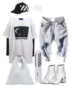 """""""Untitled #138"""" by huisiujinxxx ❤ liked on Polyvore featuring MM6 Maison Margiela, Michael Kors and Off-White"""