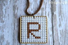 Cross-Stitch Monogrammed Necklace