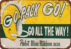 1961 Packers and Pabst Blue Ribbon Beer Vintage Look Reproduction Metal Sign Wall-Color http://smile.amazon.com/dp/B00PCKNHP8/ref=cm_sw_r_pi_dp_Vpzqvb17RBEX9