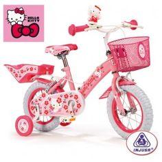 Bici infantil Hello Kitty en http://www.tuverano.com/bicicletas-infantiles/421-bici-infantil-hello-kitty.html
