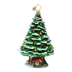 "The Christopher Radko ""Home Spruce Home"" Ornament is part of the 2013 Christmas Tree Collection of Radko Ornaments."