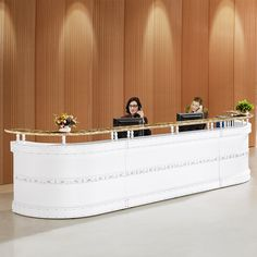 High evaluation modern office reception counter design for hotel