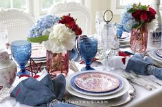 10 Patriotic Projects Perfect For Your Fourth Of July Party! Whip out the red white and blue with these ideas perfect for your of July barbecue! The post 10 Patriotic Projects Perfect For Your Fourth Of July Party! appeared first on Champagne. James Cagney, 4th Of July Party, Fourth Of July, 4th Of July Decorations, Table Decorations, Centerpieces, Olive Jar, Wire Wreath Forms, Champagne Brunch