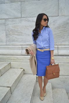 LoSo Fancy: Wear-to-Work: True Blue. Perfect transition outfit for when you can't stop thinking about warm sunny days.