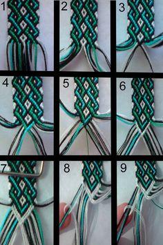 friendship bracelet tutorial 1 by bebe1221
