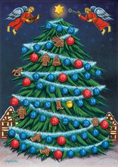 O Tannenbaum! Wer schafft es als Erster, die Spitze des Weihnachtsbaumes zu erklimmen? Ein weihnachtliches Wettklettern mit Hindernissen - für die ganze Familie! Aus dem Spieltz Verlagsprogramm.