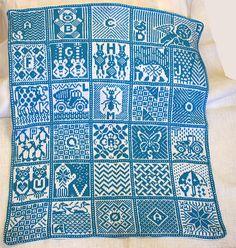 Ravelry: Norwegian Alphabet Blanket pattern by Jorid Linvik