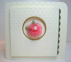 Greeting Card with DIY Ribbon-flower Embellishment by Debbie Do -- Cards and Paper Crafts at Splitcoaststampers