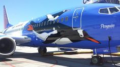 Southwest Airlines Penguin One at the gate in LAS
