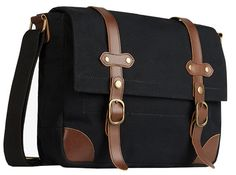FREE SHIPPING on the Black Canvas & Leather Messenger Bag and other canvas messenger bags over $75 at Serbags.com. Visit Serbags.com to find affordable and high quality canvas messenger bags for women and men.