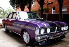 1971 Ford Falcon XY GT Phase III in the colour 'Wild Violet'. In 1971 this was…