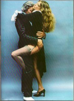Jane Birkin and Serge Gainsbourg by Helmut Newton, 1978 Serge Gainsbourg, Gainsbourg Birkin, Jane Birkin, Stockings And Suspenders, Sexy Stockings, Sharon Stone Photos, Aesthetic Women, Gorgeous Redhead, Sexy Legs