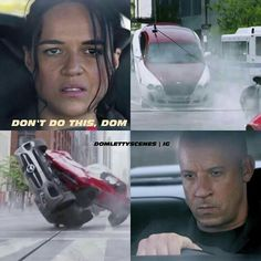 Oh my gosh I hope they reunite at the end of or I'm gonna be pissed. After all they have been through I hope Cipher gets taken down and my original OTP reunite and kiss Fate And Furious 8, Fast Furious 1, Movie Fast And Furious, Furious Movie, Dom And Letty, Fast 8, Phone Wallpaper For Men, Dominic Toretto, Best Lyrics Quotes