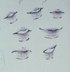 Lips Sketch, Sketch Mouth, Body Drawing Tutorial, Drawing Expressions, Art Drawings Sketches Simple, Lip Drawings, Cartoon Art Styles, Art Reference Poses, Art Tutorials