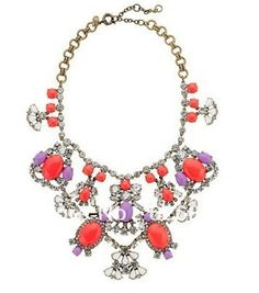 J-C CRYSTAL COLOR STONE STATEMENT NECKLACE,Estate jewelry, Luxury Statement Jewelry! High quality! Free Shipping!