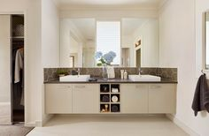Carlisle Homes: Illawarra 39 - Featured at The Address Estate Point Cook Carlisle Homes, Double Vanity, The Hamptons, Melbourne, House Plans, House Design, How To Plan, Cook, Bathrooms