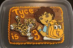 Best cake decorating method ever!  Anyone can do it.  Go Diego Go cake, cow cake, frog prince cake - pinned for friends