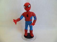 Boneco do homem aranha feito de biscuit para topo de bolo R$70,00