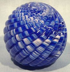 Paperweight - Prestige Glass, Dark Blue Snakeskin