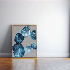 """Latest piece titled """"Washed Up"""" ink & aerosol on linen  Size (h w d): 76 x 61.5 x 3 cm #emergingartist #organic #nature #minimal #mixedmedia #abstractart #blue #linenlove #forsale"""