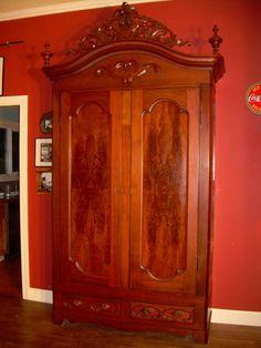 Antique English armoire ca 1800's by lockedesignstudios on Etsy, $6500.00