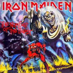 Iron Maiden: The Number of the Beast Album Cover Parodies. A list of all the groups that have released album covers that look like the Iron Maiden The Number of the Beast album. Bruce Dickinson, Iron Maiden Album Covers, Iron Maiden Albums, Iron Maiden Cover, Rock N Folk, Rock Y Metal, Black Metal, Heavy Metal Bands, 80s Metal Bands