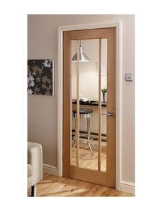 Langdale Oak 3 Light Glazed Internal Door availble to order from Magnet Trade's range of Oak & Hardwood Doors. Grey Walls White Trim, Interior, Interior Barn Doors, Wood Doors, Doors Interior, Internal Glass Doors, Oak Doors, Wood Doors Interior, Oak Glazed Internal Doors